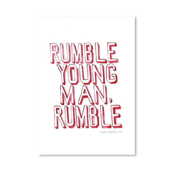 Plagát Rumble, 30x42 cm
