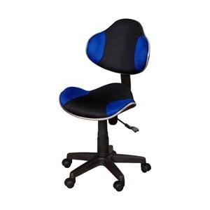Modro-čierna kancelárska stolička SOB Office
