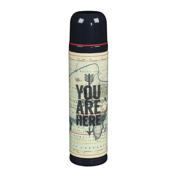 Fľaša Cartography You Are Here, 500 ml