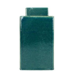 Modrá kameninová dóza HF Living, výška 28,5 cm