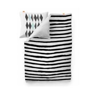 Bavlnená obliečka na paplón Blanc Stripes, 140 x 200 cm