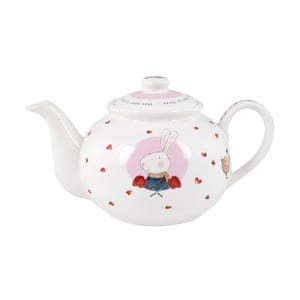 Kanvička z kostného porcelánu Ashdene Ruby Red London, 450 ml