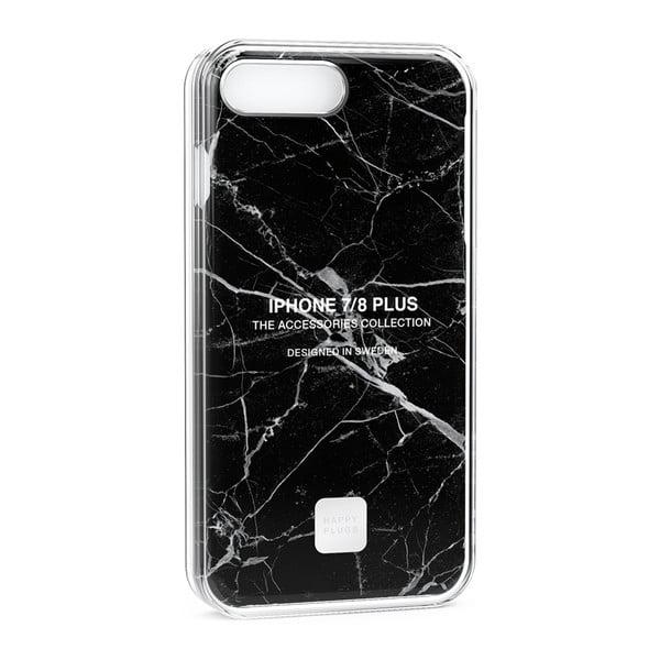 Čierno-sivý ochranný kryt na telefón pre iPhone 7 a 8 Plus Happy Plugs Slim