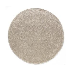 Béžový okrúhly koberec Art For Kids Crochet, ⌀ 135 cm