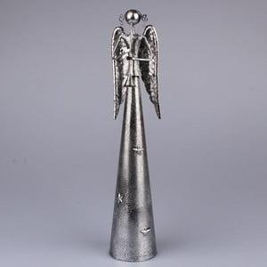Strieborný anjel s trúbkou Dakls