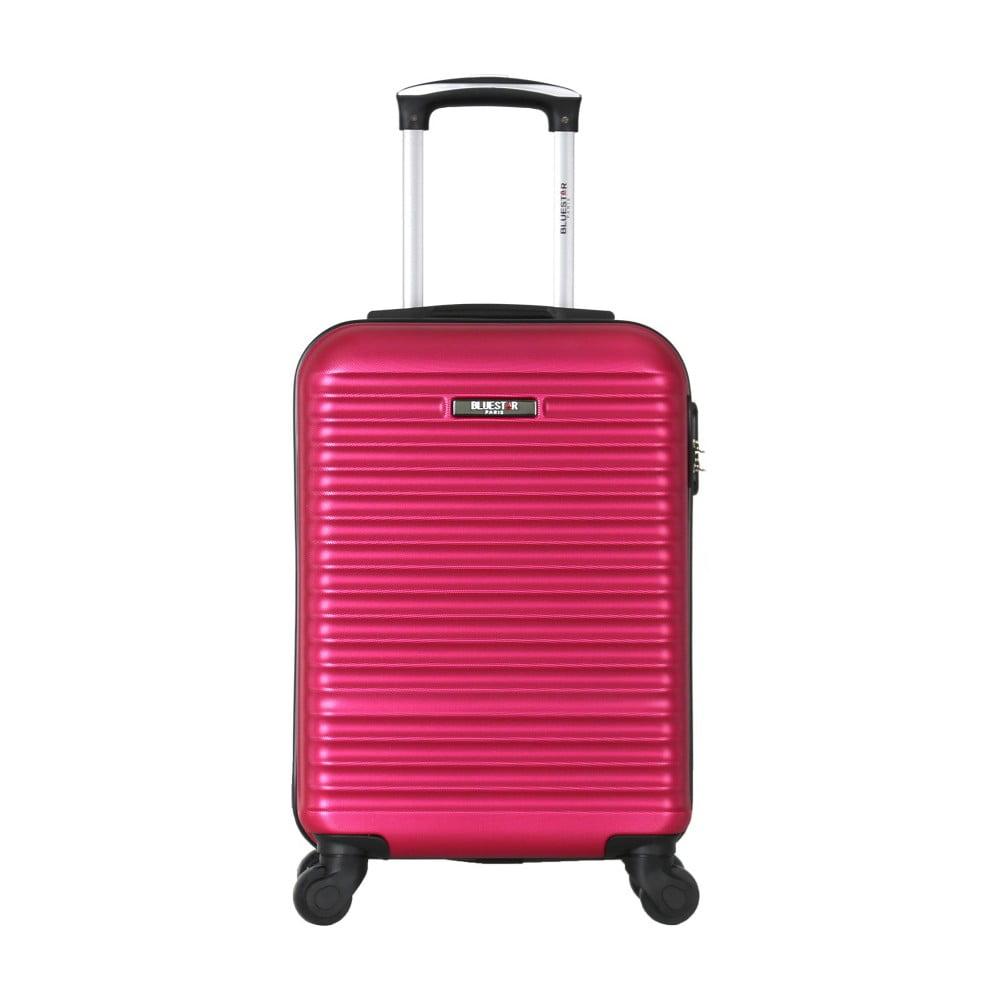 Červený cestovný kufor na kolieskach Bluestar Mirassa, 31 l