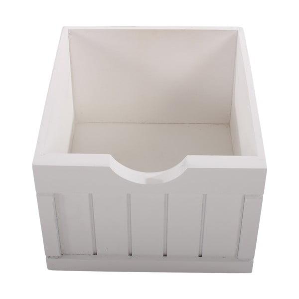 Biela komoda so 4 zásuvkami Mendler Shabby