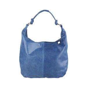 Modrá kožená kabelka Chicca Borse Giorgia
