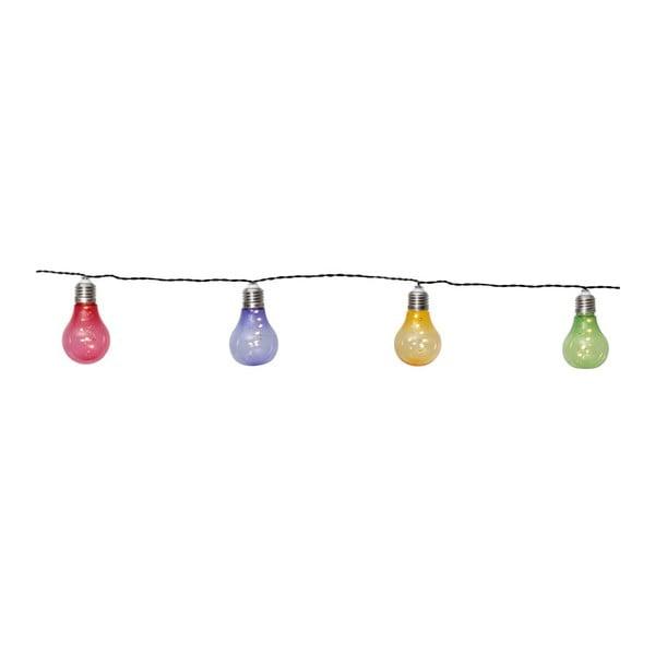 Farebná solárna svetelná LED reťaz vhodná do exteriéru Best Season Glow, 10 svetielok