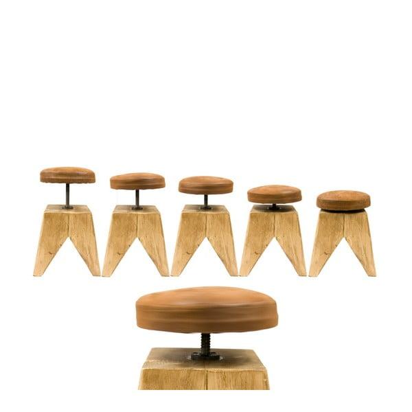 Otočná drevená stolička Swivel