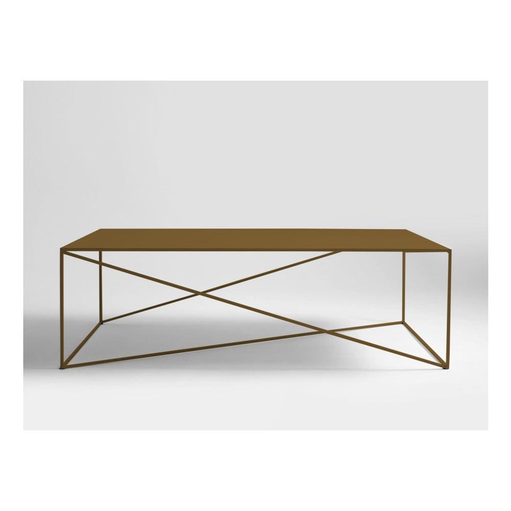 Konferenčný stolík v zlatej farbe Custom Form Memo, dĺžka 140 cm