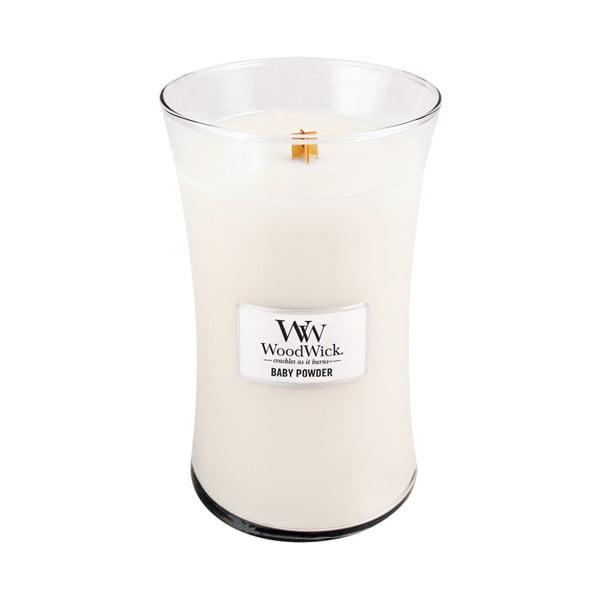 Sviečka s vôňou vanilky, medu a ruže Woodwick Detský púder, doba horenia 130 hodín