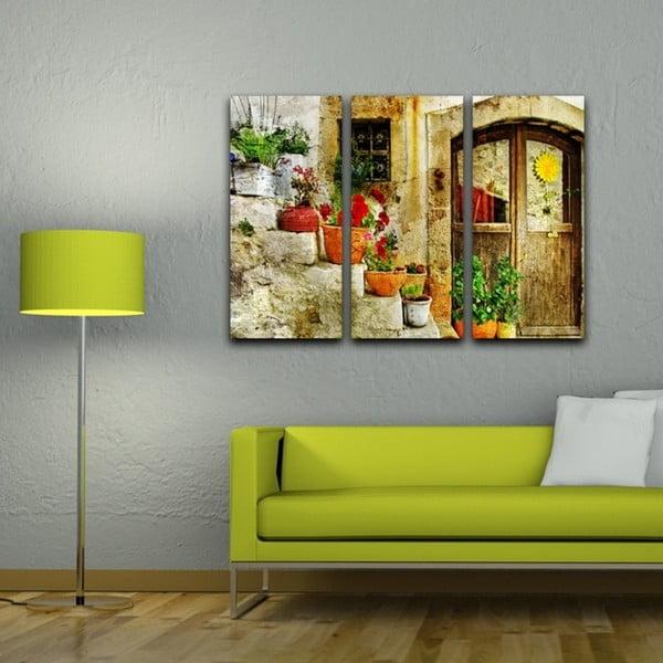3-dielny obraz Kvetinové schody
