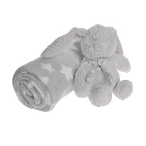 Sada deky a plyšového zajaca Grey