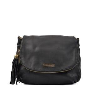 Čierna kožená kabelka Isabella Rhea Patricie