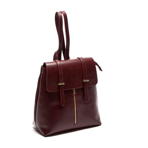 Vínový kožený batoh Sofia Cardoni Noemi