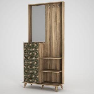 Skriňa so zrkadlom v dekore orechového dreva Ratto Tress