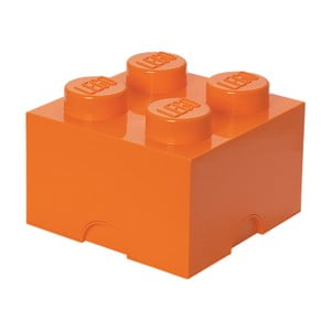 Oranžová úložná kocka LEGO®