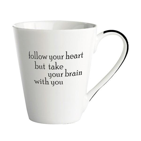 Porcelánový hrnček KJ Collection Follow your heart, 300ml