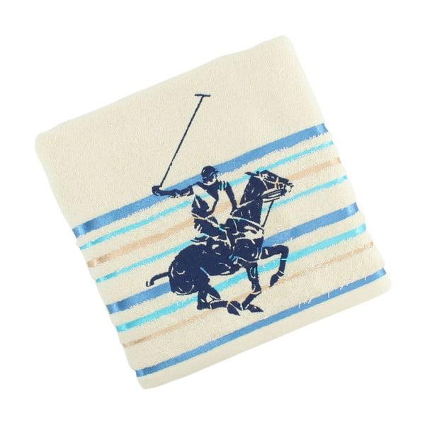 Krémovo-modrý bavlnený uterák BHPC Velvet 50x100 cm
