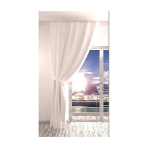 Biely záves Rosario, 140 × 270 cm
