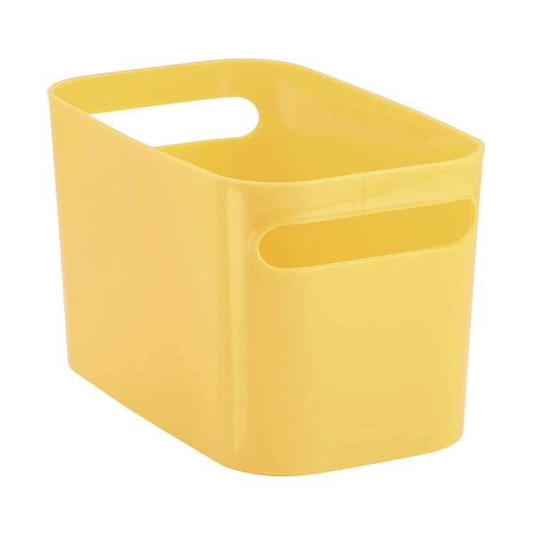 Úložný kôš Una Yellow, 25,5x15x15 cm