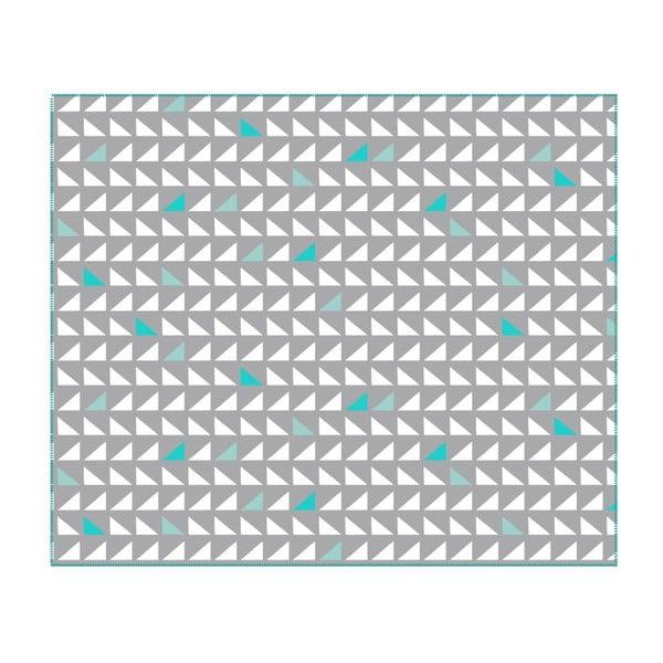 Deka Triangles Grey, 180x150 cm