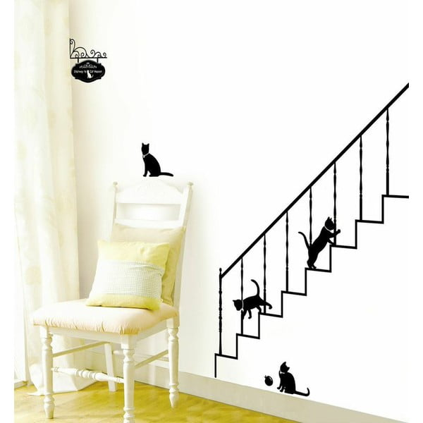 Samolepky Ambiance Cats and Stairs