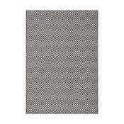 Čierny koberec vhodný aj do exteriéru Karo, 140×200 cm