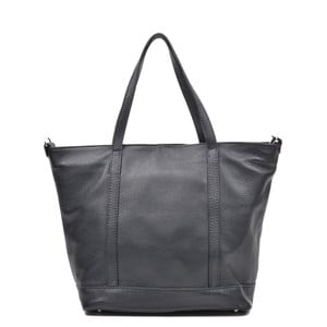 Čierna kožená kabelka Mangotti Muriel