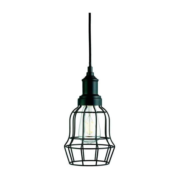 Stropné svietidlo Searchlight Bell Cage, čierna