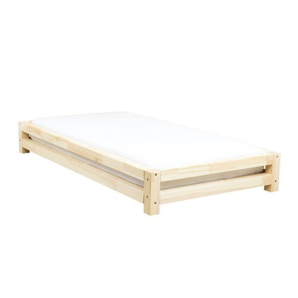 Jednolôžková posteľ z lakovaného smrekového dreva Benlemi JAPA, 80 × 200 cm