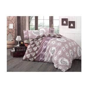 Ružové obliečky a plachta na dvojlôžko Ilgim, 200 x 220 cm