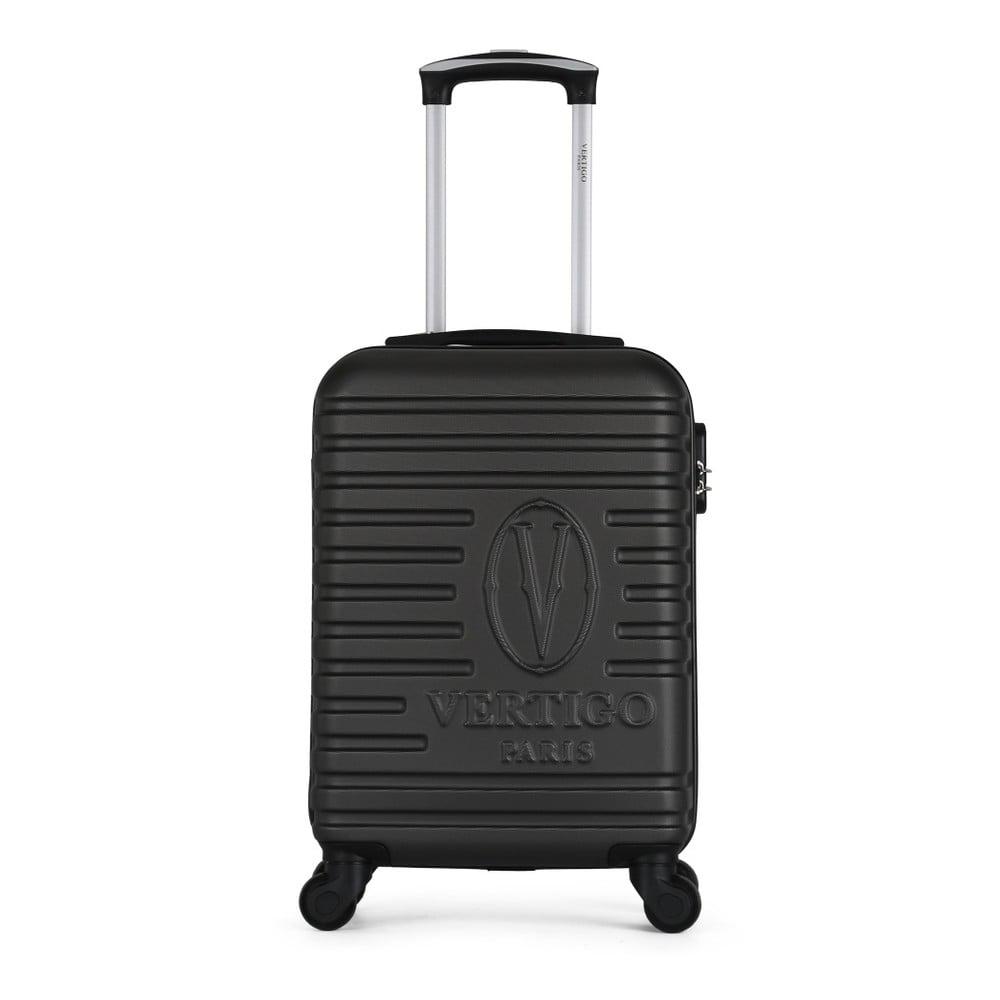 Tmavosivý cestovný kufor na kolieskach VERTIGO Valises Cabine Cadenas