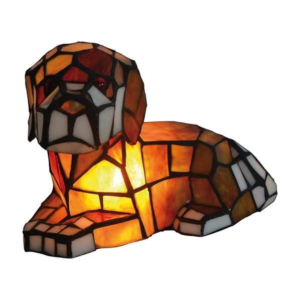 Tiffany stolná lampa Dog