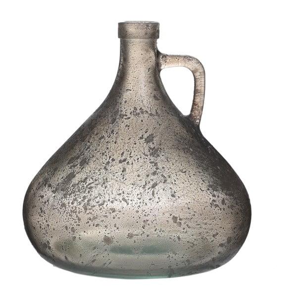 Sklenená váza Goose, 18 cm, sivá