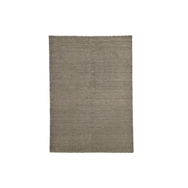 Ručne tkaný koberec Black and White Waves Kilim, 152x224 cm
