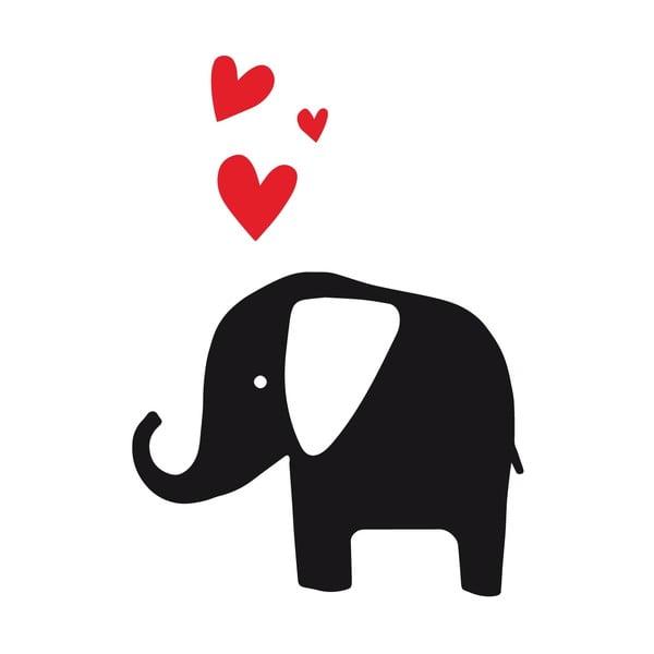 Samolepka na stenu Elephant Love