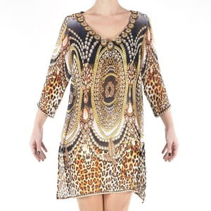 Plážové šaty Kurta Leopard, veľ. M