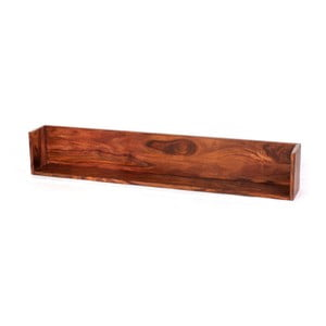 Nástenná polica z palisandrového dreva Massive Home Irma, 100 x 22 cm