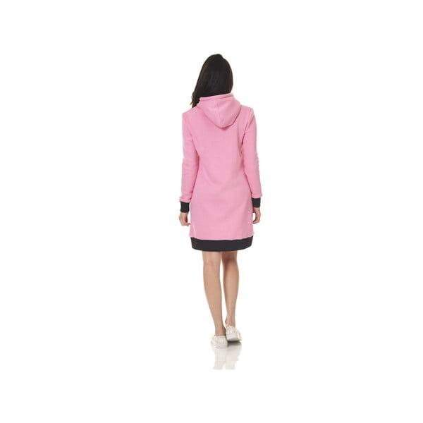 Dlhá domáca mikina Streetfly Pink, veľ. S