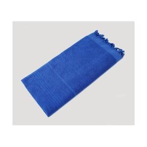 Modrá ručne tkaná osuška z prémiovej bavlny Homemania Turkish Hammam, 90×180cm