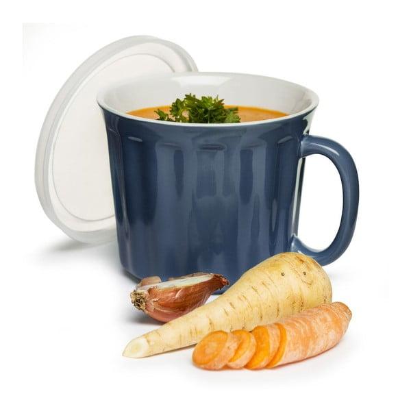 Modrý hrnček na polievku Sagaform, 500 ml