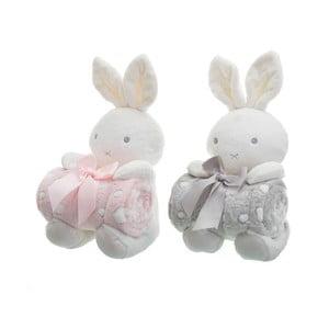 Sada 2 detských diek s plyšákmi Unimasa Rabbits, 100 x 75 cm