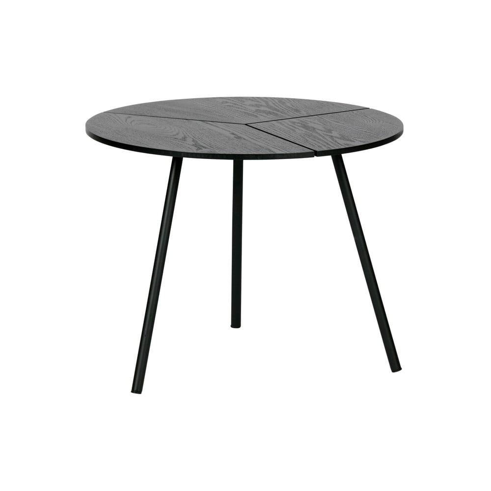 Čierny konferenčný stolík WOOOD Rodi, ⌀ 48 cm