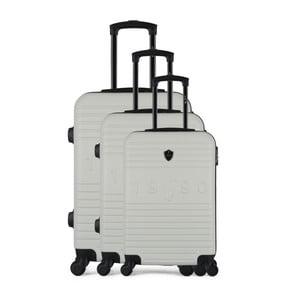Sada 3 béžových cestovných kufrov na kolieskach GENTLEMAN FARMER Cadenas Integre