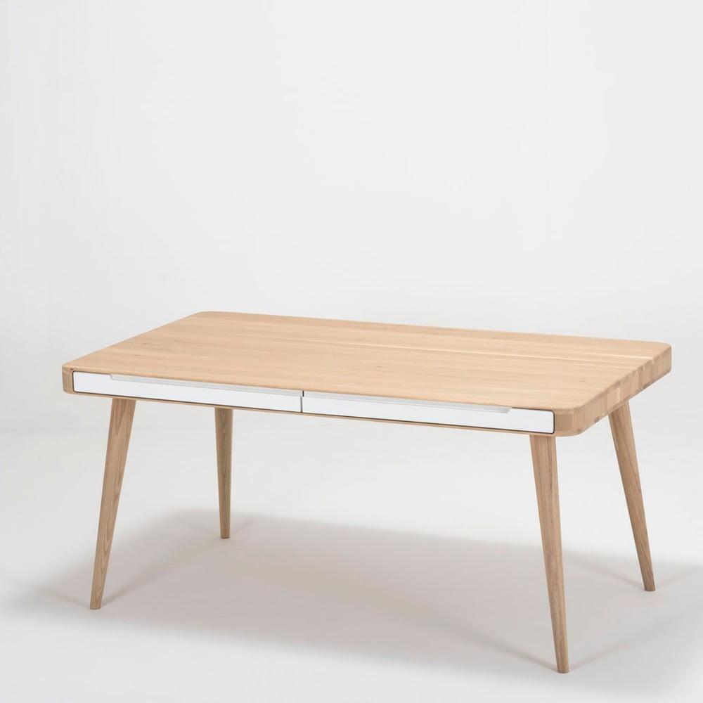 Jedálenský stôl z dubového dreva Gazzda Ena Two, 160 × 90 × 75 cm