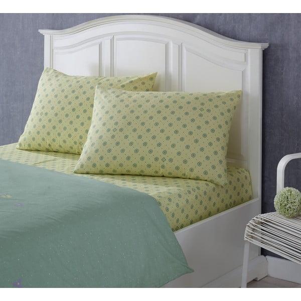 Set plachty a obliečky na vankúš Rainforce Yellow/Green, 100x200 cm