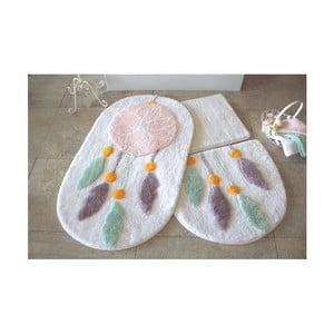 Sada 3 svetlých predložiek do kúpeľne Alessia Indian