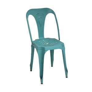 Kovová retro stolička Sofian, tyrkysová